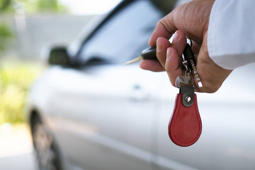 car key in front of car