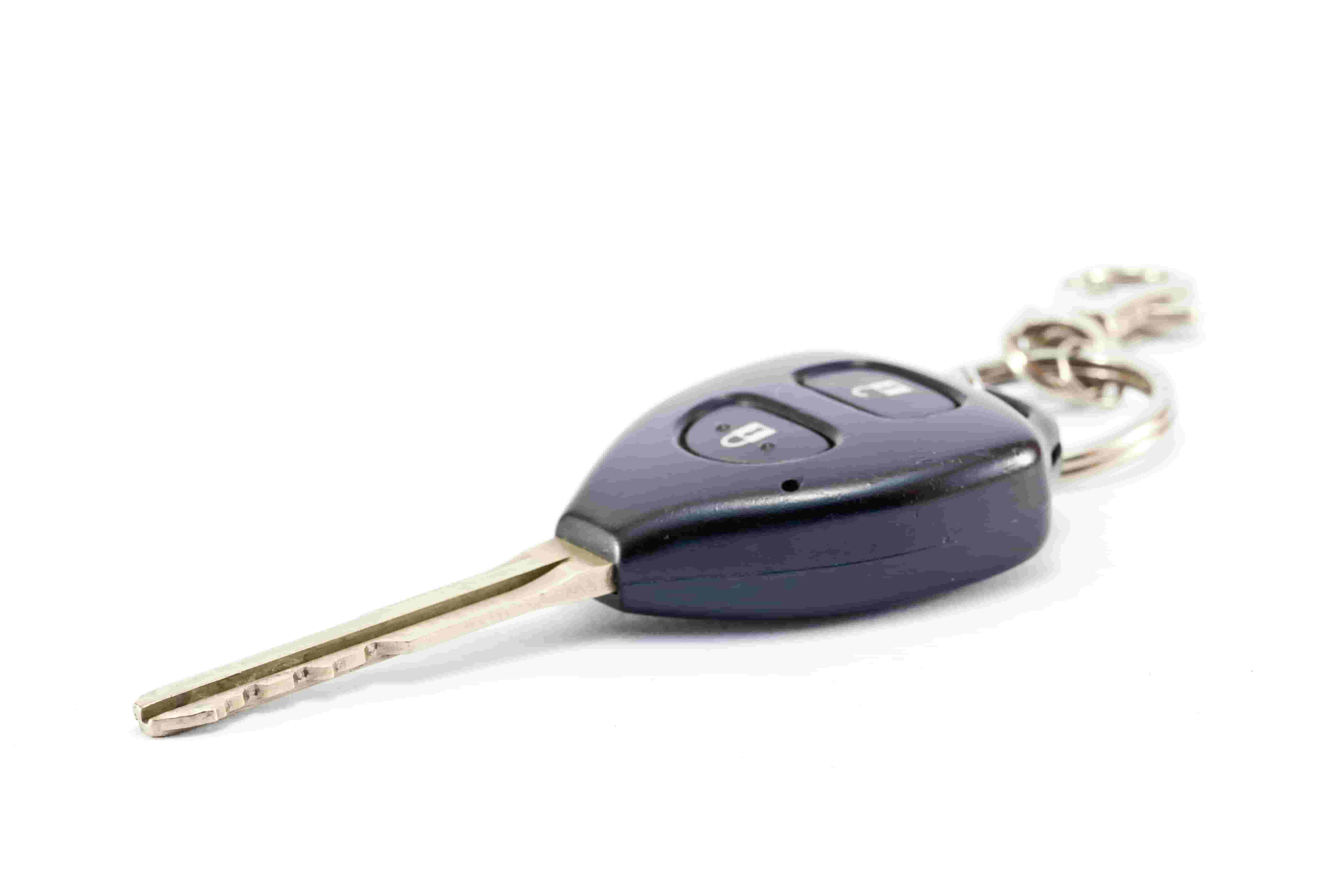 remote control car key on isolated white background