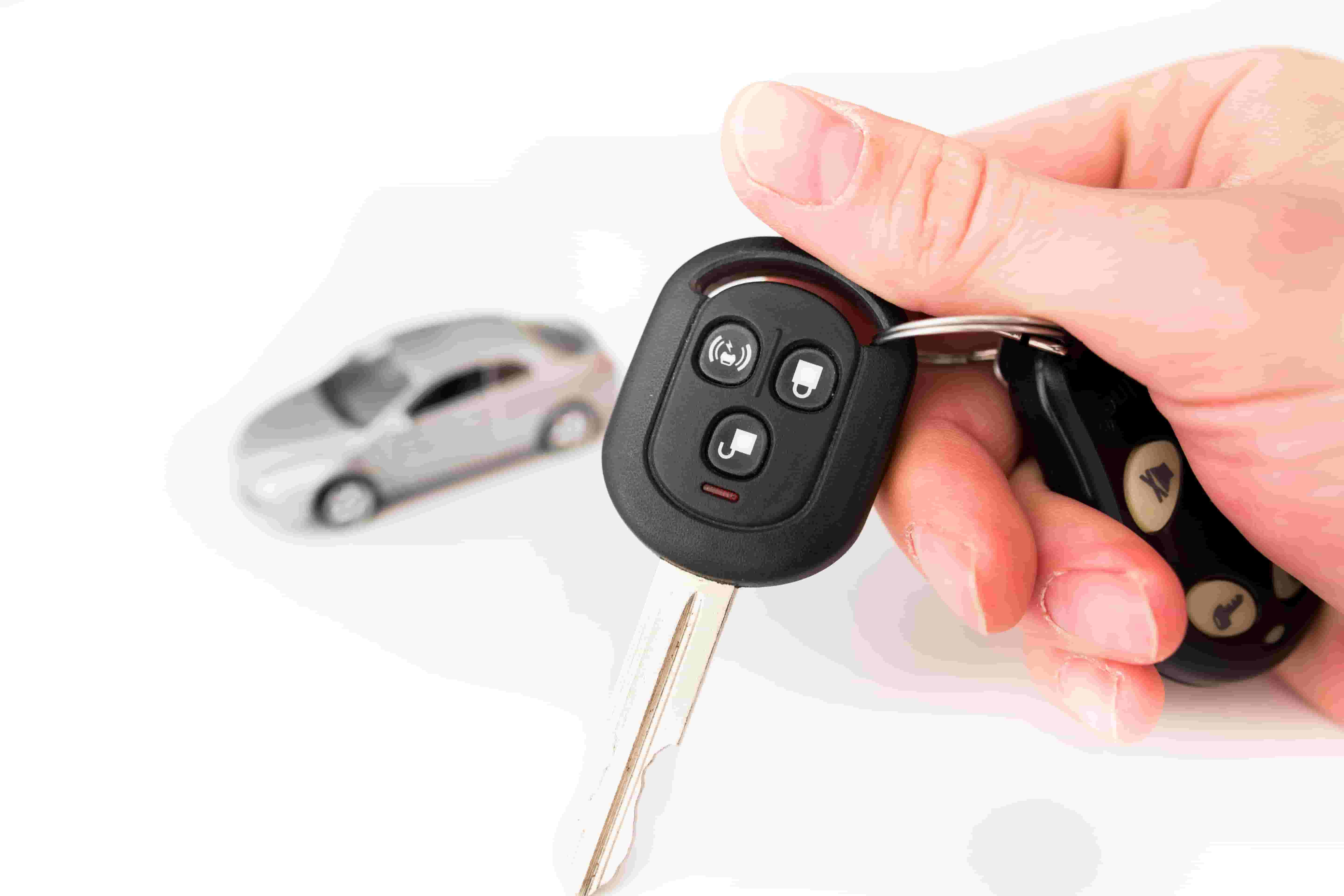 remote control of the car on a white background